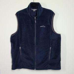 Eddie Bauer fleece vest blue 2x